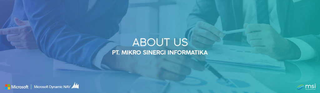 About Us banner about us of mikro sinergi informatika